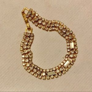 Vintage Jewelry - Antique Rhinestone Bracelet